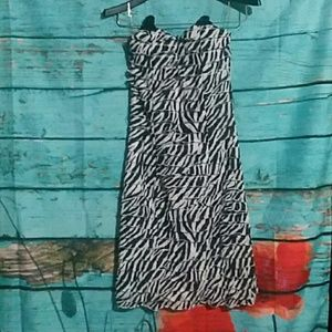 Zebra  cocktail dress
